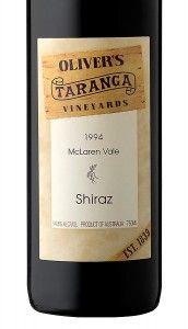 Oliver's Taranga 1990's Shiraz.