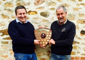 Penfold's Vaughan Cooke and Don Oliver with the 'Triple Crown' trophy. Photo : Corrina Wright