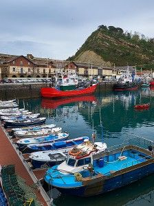 Getaria, a fishing village.