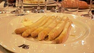 Fat white asparagus