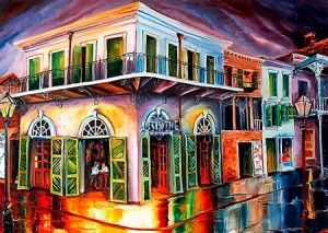 Diane Millsap's painting of the 'Absinthe House' New Orleans :