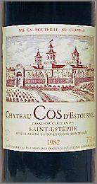 1982 vintage Château Cos d'Estournel.