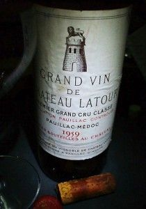 1959 Château Latour. Photo supplied by Cellar Tracker