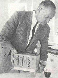 Bill Marshall, former employee at Angove's, pouring from an early wine cask. Photo supplied.