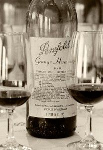 Penfolds famous 1955 Grange hermitage. Photo :  Milton Wordley