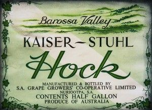 Kaiser Stuhl Hock, made by SA Grape Growers COOP.