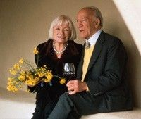 Robert Mondavi and his wife Margrit Biever . Photo : Supplied