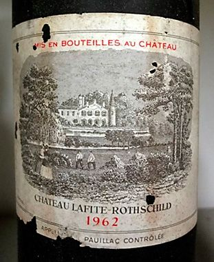 The 1962 Chateau LaFite. : Photo Supplied.