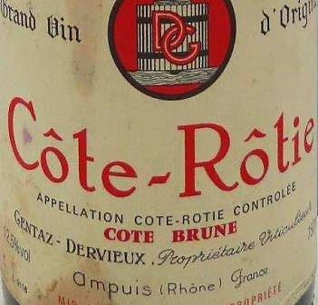 Domaine Gentaz Dervieux Cote Rotie Rhone Wine : Photo supplied by The Wine Cellar Insider.