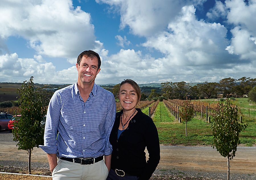 Toby and Emmanuelle Bekkers in McLaren Vale. Photo : Milton©Wordley