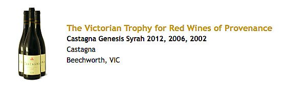 The Melbourne Wine show Provenance Trophy.