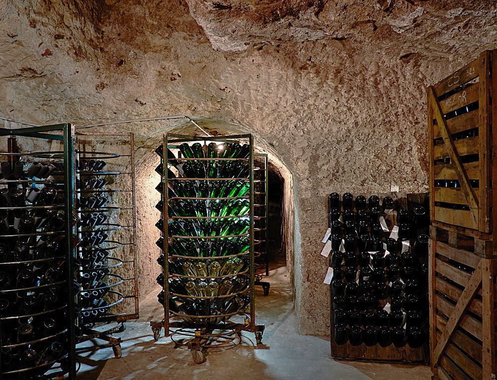 Patience :  Jean-Paul Morel's Cave in Verzenay, Champagne. Photo : Milton©Wordley