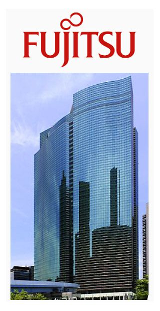 Fujitu's world headquarters, the Shiodome City Centre, Tokyo.