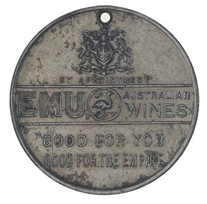 EMU WINES medallion.