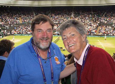 David and Wendy at Wimbledon in 2013.