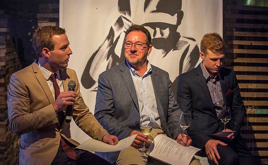 A very happy Peter with Alex and Will at the 125th Celebrations : Photo © John Krüger