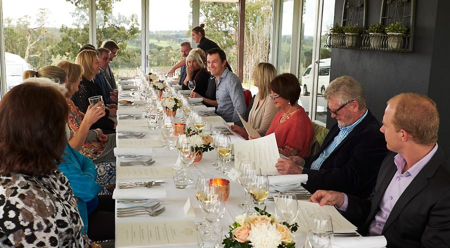 Tyson Stelzer takes a Champagne Master Class at Art Wines in the Adelaide Hills : Photo © Milton Wordley.