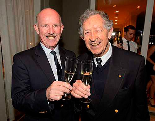 Bill Hardy and Sir James Hardy at the Eileen Hardy 2014 launch. Photo  © Dominic Lonergan.