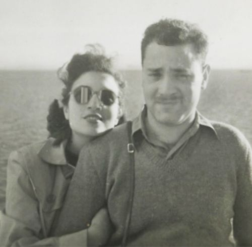 Lita's parents, Max and Alegra Liberman on the ship out to Australia in 1947.