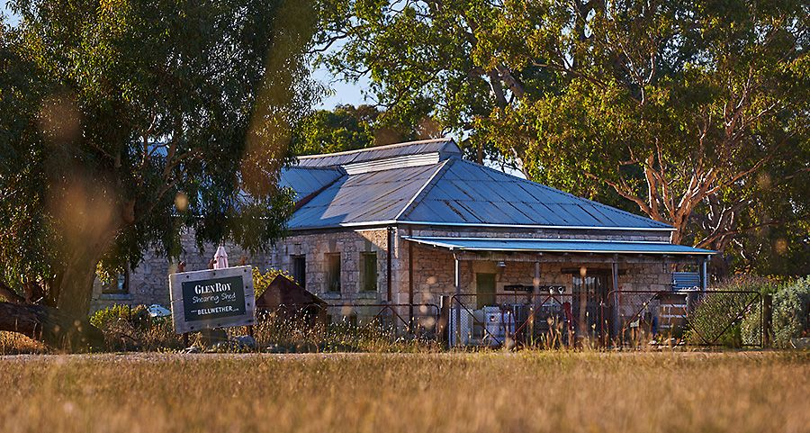 Glen Roy shearing shed home of  Bellwether Wines : Photo © Milton Wordley.