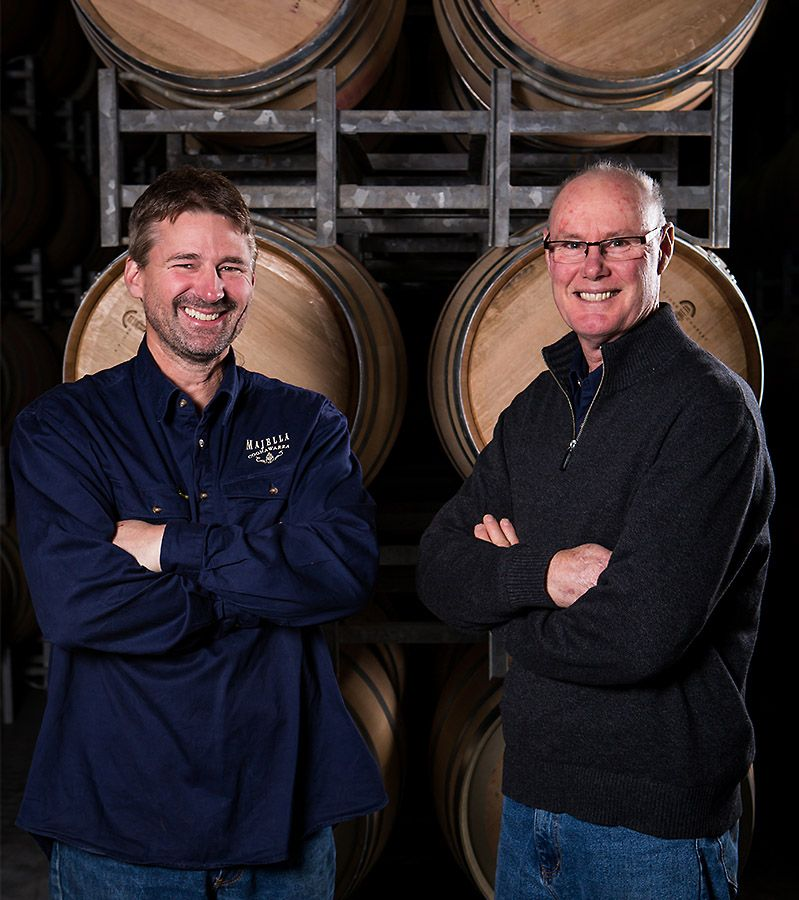 Winemakers Michael Marcus and Bruce Gregory : Photo © Christy Radford.