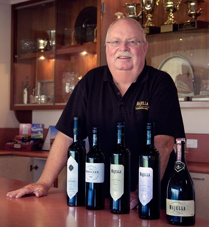 The 'Prof' and some of the Majella wines : Photo © Stella Scanlon.