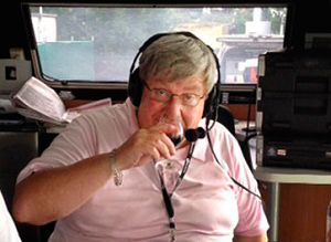 Kim West 'Harry Heidelberg' on air at radio 96.5 Melbourne.