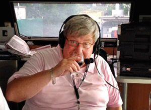 Kim West 'Harry Heidelberg' on air at radio 96.5 Melbourne.