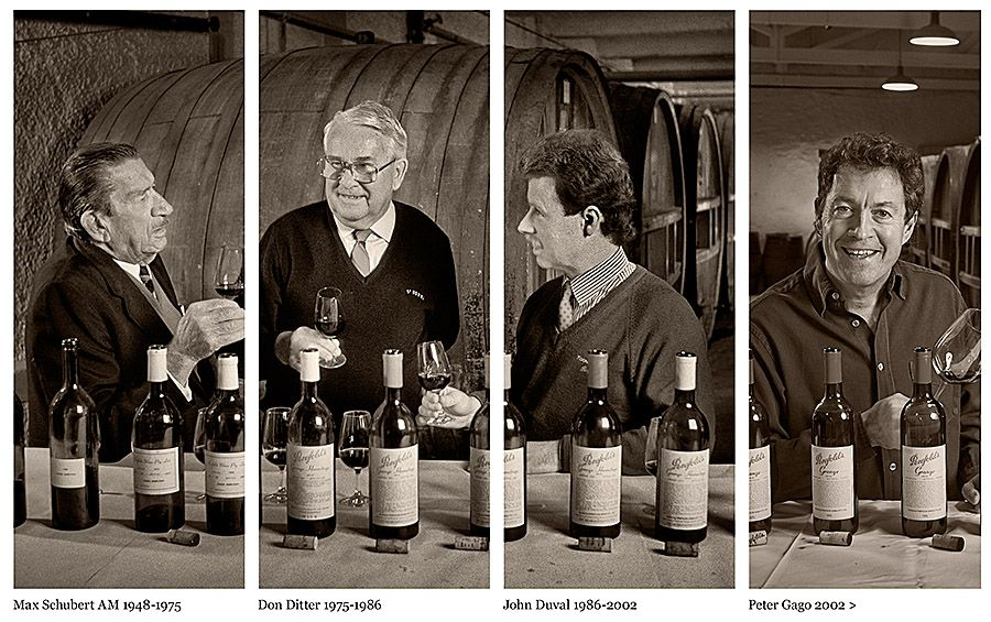 The four Grange winemakers : Photo © Milton Wordley.