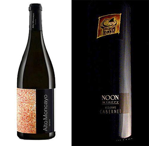 My  (Milton's) two top wines : Chris's Alto Moncato Granacha 2013 and Drew's Noon Reserve Cabernet 2016.