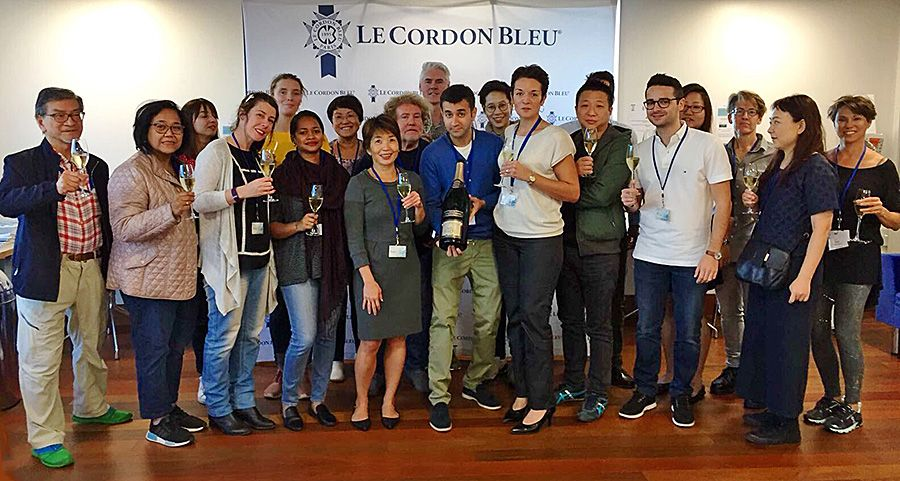 Bhatia and the group at Le Cordon Bleu Paris.