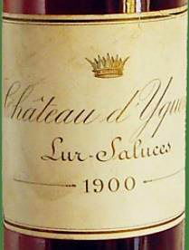 1900 Château d'Yquem. Photo © Cellar Tracker