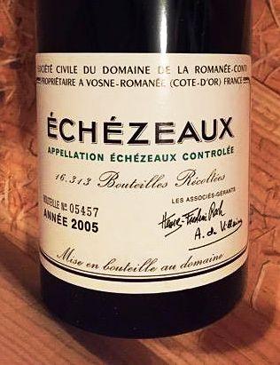 A recent vintage of DRC Echezeaux.